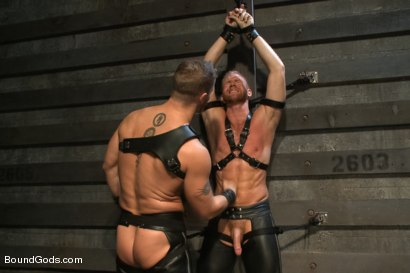 Photo number 4 from 50/50 shot for Bound Gods on Kink.com. Featuring Jeremy Stevens and Christopher Daniels in hardcore BDSM & Fetish porn.