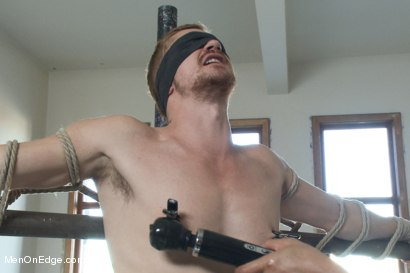 Photo number 1 from Kinky Stud Dayton O'Connor Bound and Edged  shot for Men On Edge on Kink.com. Featuring Dayton O'Connor in hardcore BDSM & Fetish porn.