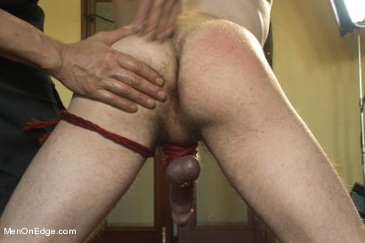 Photo number 3 from Kinky Stud Dayton O'Connor Bound and Edged  shot for Men On Edge on Kink.com. Featuring Dayton O'Connor in hardcore BDSM & Fetish porn.