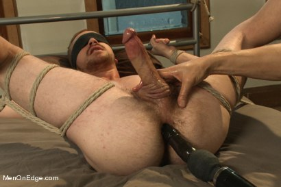 Photo number 6 from Kinky Stud Dayton O'Connor Bound and Edged  shot for Men On Edge on Kink.com. Featuring Dayton O'Connor in hardcore BDSM & Fetish porn.