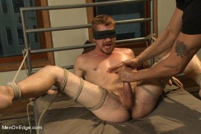 Photo number 14 from Kinky Stud Dayton O'Connor Bound and Edged  shot for Men On Edge on Kink.com. Featuring Dayton O'Connor in hardcore BDSM & Fetish porn.