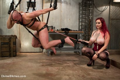 Photo number 5 from Welcome Mz Berlin to Divine Bitches! shot for Divine Bitches on Kink.com. Featuring Mz Berlin and Chad Rock in hardcore BDSM & Fetish porn.