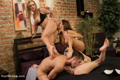 Photo number 7 from 3 Legendary MILF Superstars and the Pizza Boy! shot for Foot Worship on Kink.com. Featuring Francesca Le , Logan Pierce, Veronica Avluv and Tanya Tate in hardcore BDSM & Fetish porn.