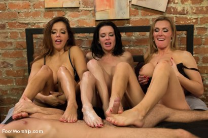 Photo number 11 from 3 Legendary MILF Superstars and the Pizza Boy! shot for Foot Worship on Kink.com. Featuring Francesca Le , Logan Pierce, Veronica Avluv and Tanya Tate in hardcore BDSM & Fetish porn.