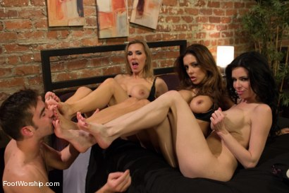 Photo number 6 from 3 Legendary MILF Superstars and the Pizza Boy! shot for Foot Worship on Kink.com. Featuring Francesca Le , Logan Pierce, Veronica Avluv and Tanya Tate in hardcore BDSM & Fetish porn.