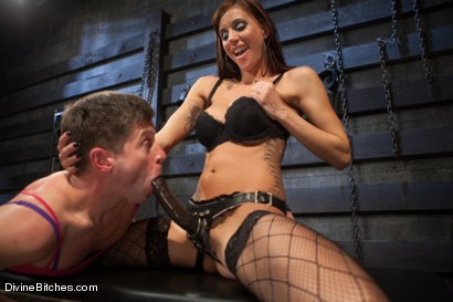 Photo number 5 from Feminized Cuckold Reality shot for Divine Bitches on Kink.com. Featuring Gia DiMarco, Sebastian Keys and Ryan Honey in hardcore BDSM & Fetish porn.