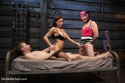 Photo number 7 from Feminized Cuckold Reality shot for Divine Bitches on Kink.com. Featuring Gia DiMarco, Sebastian Keys and Ryan Honey in hardcore BDSM & Fetish porn.