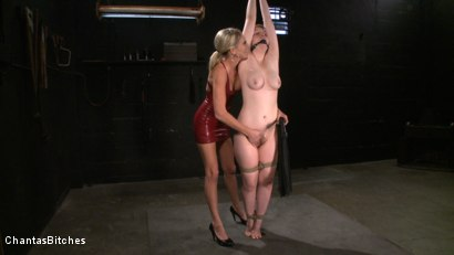 Photo number 2 from Pink Skin shot for Chantas Bitches on Kink.com. Featuring Audrey Leigh and Addison Heart in hardcore BDSM & Fetish porn.