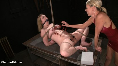 Photo number 7 from Pink Skin shot for Chantas Bitches on Kink.com. Featuring Audrey Leigh and Addison Heart in hardcore BDSM & Fetish porn.