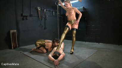 Photo number 11 from Double the Pain shot for Captive Male on Kink.com. Featuring Nika Noire, Dia Zerva and Rico in hardcore BDSM & Fetish porn.