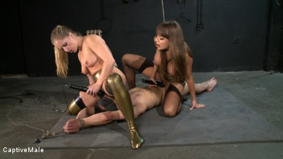 Photo number 7 from Double the Pain shot for Captive Male on Kink.com. Featuring Nika Noire, Dia Zerva and Rico in hardcore BDSM & Fetish porn.