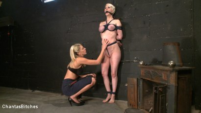 Photo number 11 from Aiming to Please shot for Chantas Bitches on Kink.com. Featuring Audrey Leigh and Cherry Torn in hardcore BDSM & Fetish porn.
