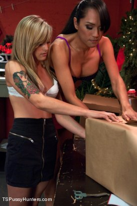 Photo number 2 from Ts Top Jessica Fox fucks a Brand New Girl in her FIRST EVER Scene  shot for TS Pussy Hunters on Kink.com. Featuring Jessica Fox and Alya Marie in hardcore BDSM & Fetish porn.
