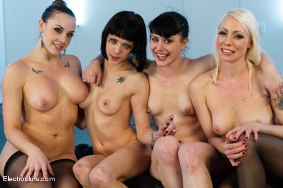 Photo number 15 from Porcelain Electro Dolls shot for Electro Sluts on Kink.com. Featuring Chanel Preston, Lorelei Lee, Asphyxia Noir and Katharine Cane in hardcore BDSM & Fetish porn.