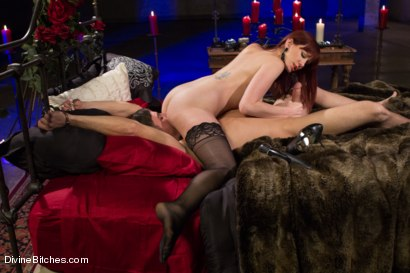 Photo number 13 from The Last Prostate Ever Milked On Earth shot for Divine Bitches on Kink.com. Featuring Lance Hart and Maitresse Madeline Marlowe in hardcore BDSM & Fetish porn.