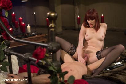 Photo number 15 from The Last Prostate Ever Milked On Earth shot for Divine Bitches on Kink.com. Featuring Lance Hart and Maitresse Madeline Marlowe in hardcore BDSM & Fetish porn.