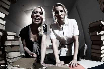 Photo number 3 from Bonnie's Nightmare <br/>An Electrosluts Feature shot for Electro Sluts on Kink.com. Featuring Ashley Fires, Bonnie Day  and Lorelei Lee in hardcore BDSM & Fetish porn.
