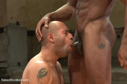 "Photo number 11 from Leo ""The Force"" Forte vs Race ""The Crusher"" Cooper <br> Battle of the NK Titans! shot for Naked Kombat on Kink.com. Featuring Leo Forte and Race Cooper in hardcore BDSM & Fetish porn."