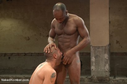 "Photo number 10 from Leo ""The Force"" Forte vs Race ""The Crusher"" Cooper <br> Battle of the NK Titans! shot for Naked Kombat on Kink.com. Featuring Leo Forte and Race Cooper in hardcore BDSM & Fetish porn."