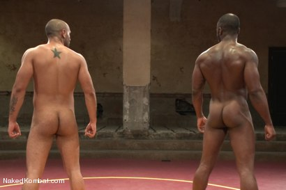 "Photo number 4 from Leo ""The Force"" Forte vs Race ""The Crusher"" Cooper <br> Battle of the NK Titans! shot for Naked Kombat on Kink.com. Featuring Leo Forte and Race Cooper in hardcore BDSM & Fetish porn."
