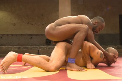 """Photo number 13 from Leo """"The Force"""" Forte vs Race """"The Crusher"""" Cooper <br> Battle of the NK Titans! shot for Naked Kombat on Kink.com. Featuring Leo Forte and Race Cooper in hardcore BDSM & Fetish porn."""
