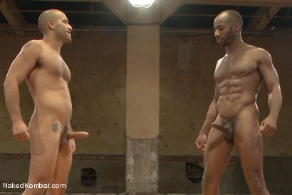 "Photo number 15 from Leo ""The Force"" Forte vs Race ""The Crusher"" Cooper <br> Battle of the NK Titans! shot for Naked Kombat on Kink.com. Featuring Leo Forte and Race Cooper in hardcore BDSM & Fetish porn."