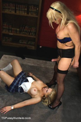 Photo number 4 from Glory Holes, Head Mistress Cock and Foreign Exchange Girls shot for TS Pussy Hunters on Kink.com. Featuring Joanna Jet and Sarah Vandella in hardcore BDSM & Fetish porn.