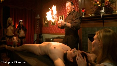 Photo number 17 from House Celebration: Fire Play & Farewell Pope p. 2 shot for The Upper Floor on Kink.com. Featuring Derrick Pierce, Lily LaBeau, Odile, Krysta Kaos, Beretta James, Dylan Ryan, Jack Hammer, Soma Snakeoil (Goddess Soma), Maestro Stefanos and James in hardcore BDSM & Fetish porn.