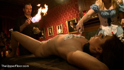 Photo number 19 from House Celebration: Fire Play & Farewell Pope p. 2 shot for The Upper Floor on Kink.com. Featuring Derrick Pierce, Lily LaBeau, Odile, Krysta Kaos, Beretta James, Dylan Ryan, Jack Hammer, Soma Snakeoil (Goddess Soma), Maestro Stefanos and James in hardcore BDSM & Fetish porn.