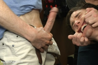 Photo number 6 from Horny crowd jumps on a ripped stud in a skate shop shot for Bound in Public on Kink.com. Featuring Rob Yaeger, Kevin Case and Spencer Reed in hardcore BDSM & Fetish porn.