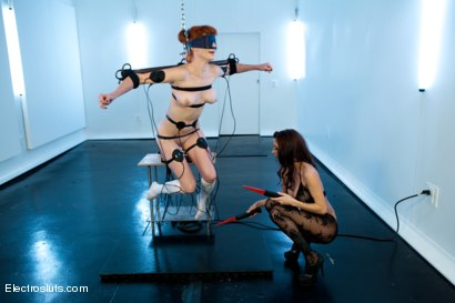 Photo number 2 from Warming up Audrey Hollander shot for Electro Sluts on Kink.com. Featuring Gia DiMarco and Audrey Hollander in hardcore BDSM & Fetish porn.
