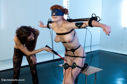 Photo number 3 from Warming up Audrey Hollander shot for Electro Sluts on Kink.com. Featuring Gia DiMarco and Audrey Hollander in hardcore BDSM & Fetish porn.