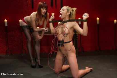 Photo number 2 from Dahlia Sky: Destroyed by Electrosex shot for Electro Sluts on Kink.com. Featuring Maitresse Madeline Marlowe , Mark Wood and Dahlia Sky in hardcore BDSM & Fetish porn.