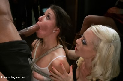 Photo number 6 from Smoking hot Brunette Humiliated and Fucked in Public shot for Public Disgrace on Kink.com. Featuring Karlo Karrera and Mia Gold in hardcore BDSM & Fetish porn.