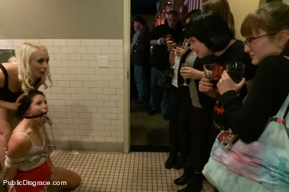 Photo number 2 from Smoking hot Brunette Humiliated and Fucked in Public shot for Public Disgrace on Kink.com. Featuring Karlo Karrera and Mia Gold in hardcore BDSM & Fetish porn.