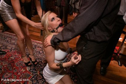 Photo number 1 from Busty Blonde Bombshell Bent Doggy Style and Fucked shot for Public Disgrace on Kink.com. Featuring Mark Wood and Riley Evans in hardcore BDSM & Fetish porn.