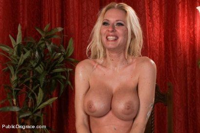 Photo number 15 from Busty Blonde Bombshell Bent Doggy Style and Fucked shot for Public Disgrace on Kink.com. Featuring Mark Wood and Riley Evans in hardcore BDSM & Fetish porn.