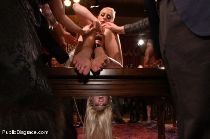 Photo number 3 from Busty Blonde Bombshell Bent Doggy Style and Fucked shot for Public Disgrace on Kink.com. Featuring Mark Wood and Riley Evans in hardcore BDSM & Fetish porn.