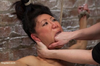 Photo number 6 from Bitch Bound In Bag & Extreme Spread Eagle Special! shot for Hogtied on Kink.com. Featuring Tia Ling in hardcore BDSM & Fetish porn.