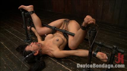 Bondage orgasm hot black cock slavemouth 7