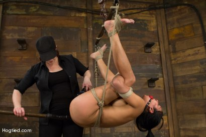 Photo number 14 from Beretta - Challenged with Wanton Cruelty shot for Hogtied on Kink.com. Featuring Beretta James in hardcore BDSM & Fetish porn.
