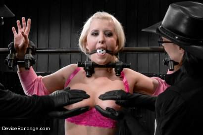 Photo number 2 from Claire & Orlando vs Cherry Torn - ULTIMATE 2 on 1 Smack Down! shot for Device Bondage on Kink.com. Featuring Cherry Torn and Orlando in hardcore BDSM & Fetish porn.