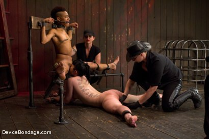 Photo number 5 from Nikki Darling & Katharine Cane - Complete Edited Live Show shot for Device Bondage on Kink.com. Featuring Mz Berlin, Nikki Darling and Katharine Cane in hardcore BDSM & Fetish porn.