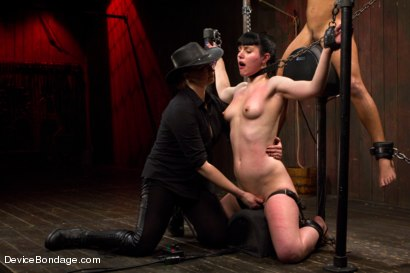 Photo number 11 from Nikki Darling & Katharine Cane - Complete Edited Live Show shot for Device Bondage on Kink.com. Featuring Mz Berlin, Nikki Darling and Katharine Cane in hardcore BDSM & Fetish porn.