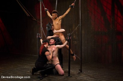 Photo number 12 from Nikki Darling & Katharine Cane - Complete Edited Live Show shot for Device Bondage on Kink.com. Featuring Mz Berlin, Nikki Darling and Katharine Cane in hardcore BDSM & Fetish porn.
