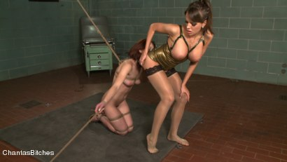 Photo number 5 from Lessons in Submission shot for Chantas Bitches on Kink.com. Featuring Nika Noire and Riley Shy in hardcore BDSM & Fetish porn.