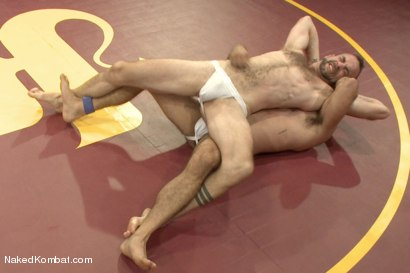 """Photo number 4 from Clayton """"Pile-Driver"""" Kent vs. Alessio """"El Lobo"""" Romero - The Hairy Match shot for nakedkombat on Kink.com. Featuring Alessio Romero and Clayton Kent in hardcore BDSM & Fetish porn."""