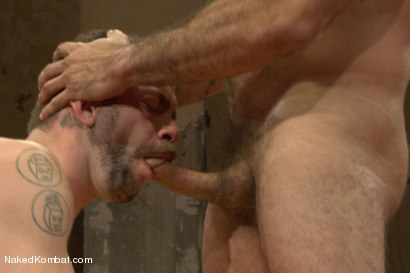 """Photo number 11 from Clayton """"Pile-Driver"""" Kent vs. Alessio """"El Lobo"""" Romero - The Hairy Match shot for nakedkombat on Kink.com. Featuring Alessio Romero and Clayton Kent in hardcore BDSM & Fetish porn."""