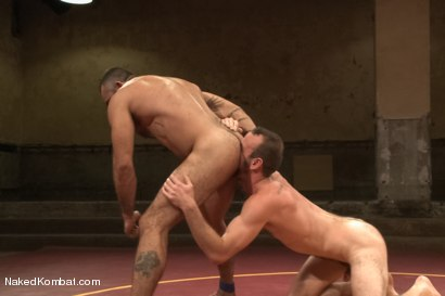 """Photo number 9 from Clayton """"Pile-Driver"""" Kent vs. Alessio """"El Lobo"""" Romero - The Hairy Match shot for Naked Kombat on Kink.com. Featuring Alessio Romero and Clayton Kent in hardcore BDSM & Fetish porn."""