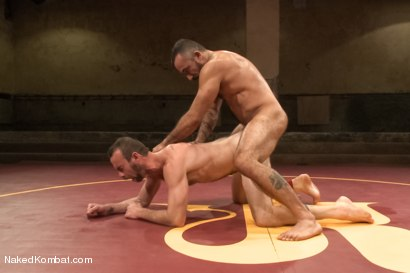 "Photo number 12 from Clayton ""Pile-Driver"" Kent vs. Alessio ""El Lobo"" Romero - The Hairy Match shot for Naked Kombat on Kink.com. Featuring Alessio Romero and Clayton Kent in hardcore BDSM & Fetish porn."